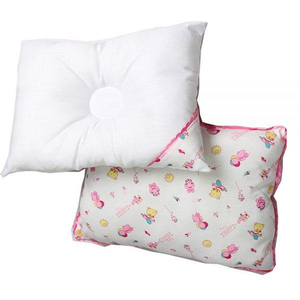 Set de cojines x2 para bebé, 25 cm X 35 cm, volar rosa