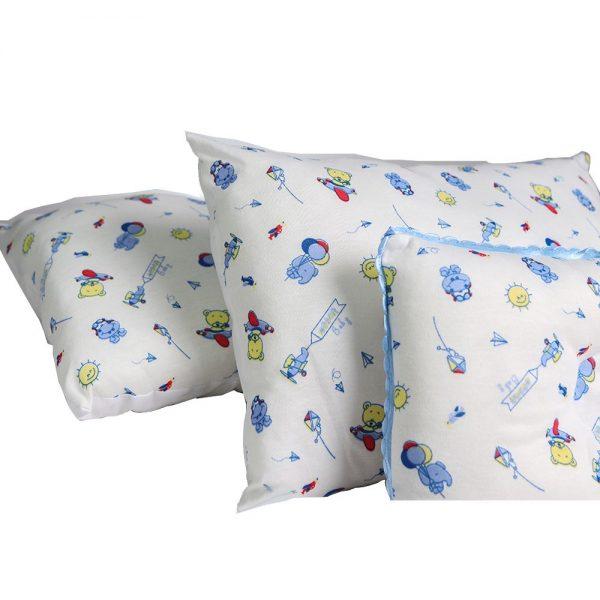 Set de cojines azules X3 para bebé 30cm X 20cm