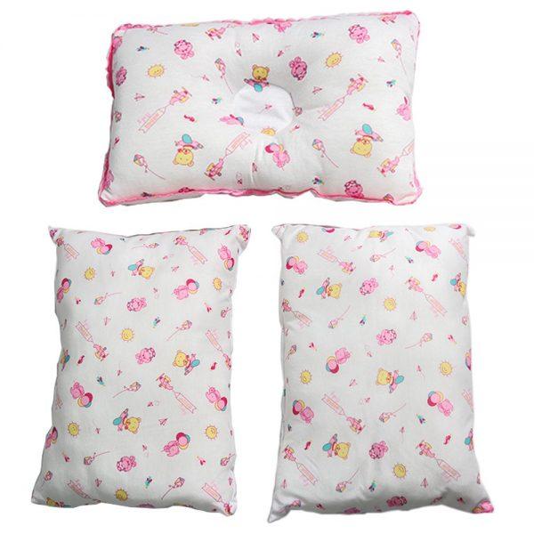 Set de cojines rosa X3 para bebé 30cm X 20cm