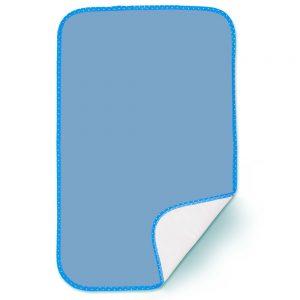 Cambiador acolchado para bebé, color azul, 70X 42cm.
