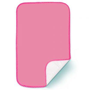 Cambiador acolchado para bebé, color rosa, 70X42 cm.
