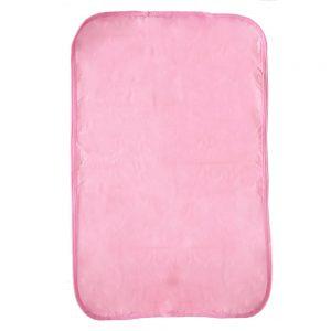 Cambiador plástico unicolor rosa, 70 cm x 42 cm.