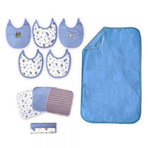 Combo baby shower azul. Cambiador +baberos+ toallitas