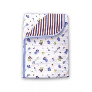 Cobija Doble Faz para bebé, azul, 75cm x 100cm