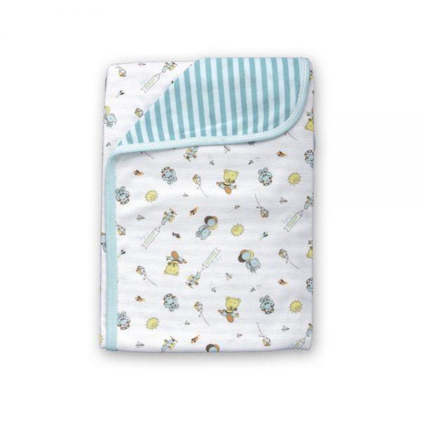 Cobija Doble Faz para bebé, verde, 75cm x 100cm