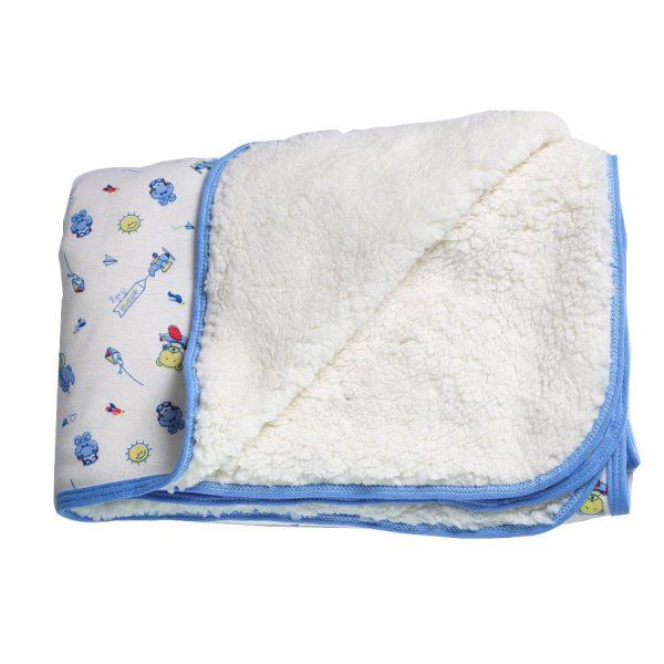 Cobija calientica para bebé, color azul, 75 cm x 100 cm.