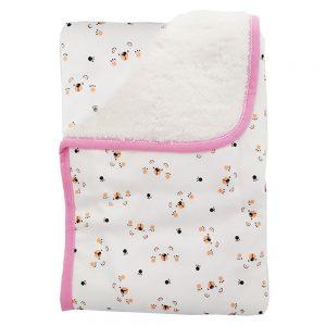 Cobija frazada ovejera doble faz, color rosa,75×100 cm