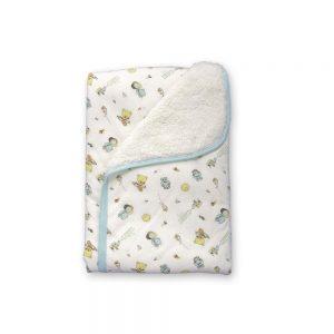 Cobija calientica para bebé, color verde, 75 cm x 100 cm.