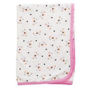 Cobija frazada para bebé, 75cm x 100cm, color rosa