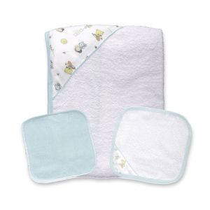 Set de toalla para bebé, verde, 90 cm x 60 cm.