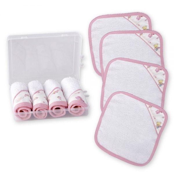 Set de pañitos multiusos babitas rosa en caja