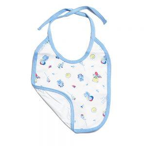 Babero azul con estampado para bebé