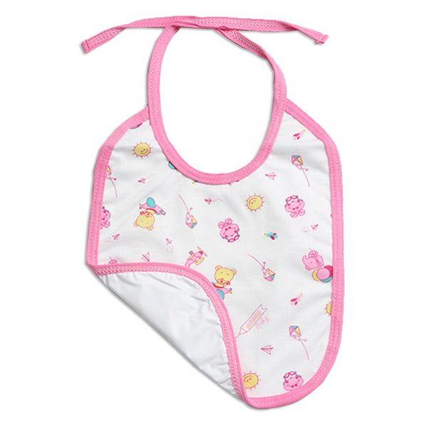 Babero rosado con estampado para bebé
