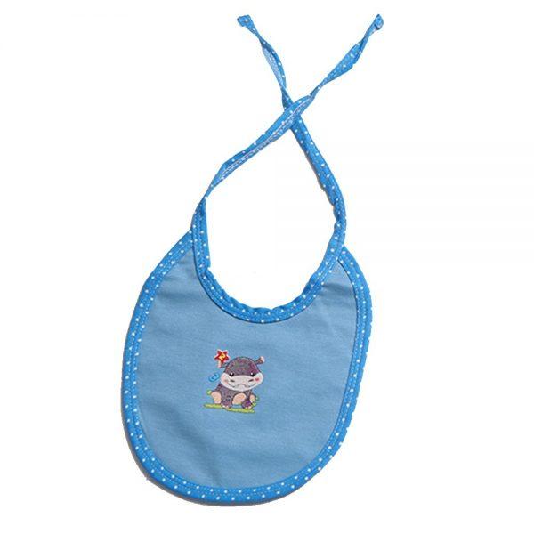 Babero lunita azul para bebé