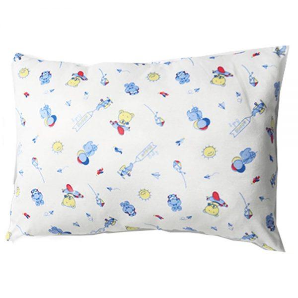 Almohada azul para bebé, 25 cm X 35 cm