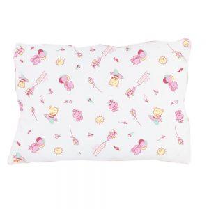 Almohada rosa para bebé, 25 cm X 35 cm.