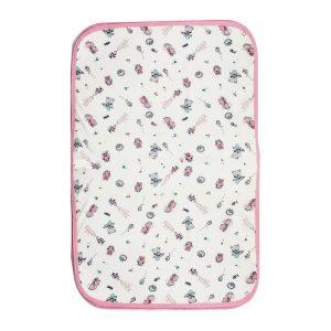 Cambiador de pañales para bebé rosa, 70 cm x 42 cm