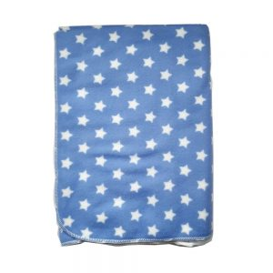 Cobija baby, estrellas azul, 75 cmx 100