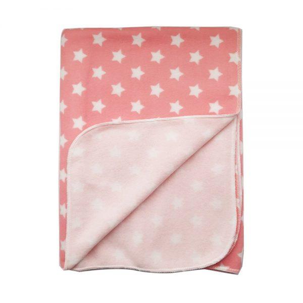 Cobija baby, estrellas rosada, 75 cmx 100cm