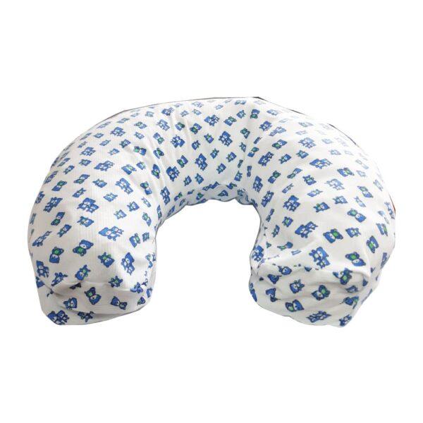 Funda para cojín de bebé, Osos color azul.