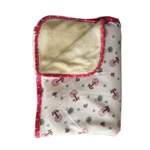 Cobija calientica para bebé, color rosa, 75 cm x 100 cm.