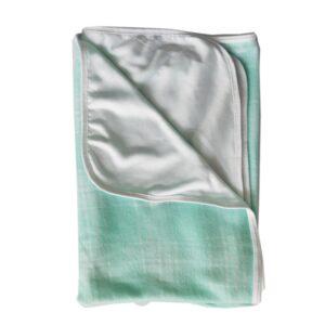 Manta para bebé, color verde, 75cm x 100cm
