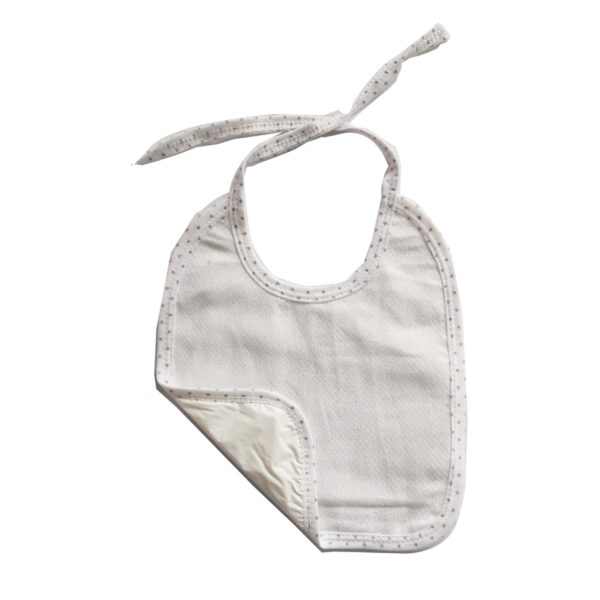 Babero pequeño cuadrado para bebé, color verde.