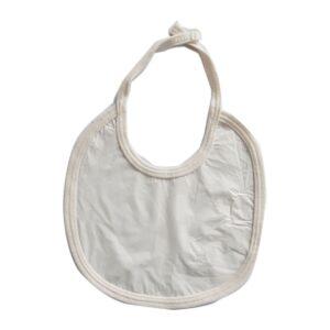 Babero súper plásctico para tu bebé, color blanco.